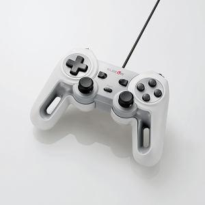 エレコム JC-U4013SWH 超高性能有線ゲームパッド ホワイト