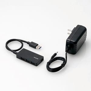 エレコム U3HS-A420SBK タブレット用4ポートUSB3.0ハブ(セルフパワー) ブラック