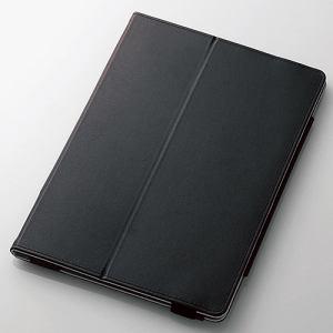エレコム TB-A179PLFBK 9.7インチiPad(2017)ソフトレザーカバー2アングル ブラック