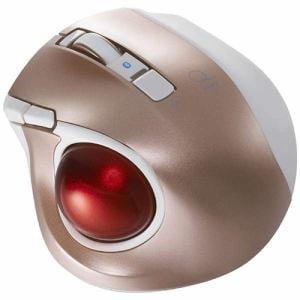 ナカバヤシ MUS-TBLF134P ワイヤレスレーザートラックボールマウス Bluetooth 静音・コンパクトモデル(5ボタン・ピンク)