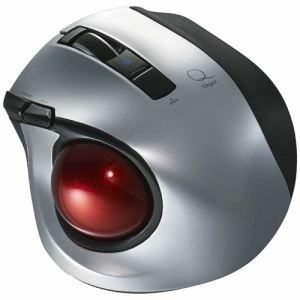 ナカバヤシ MUS-TBLF134SL ワイヤレスレーザートラックボールマウス Bluetooth 静音・コンパクトモデル(5ボタン・シルバー)