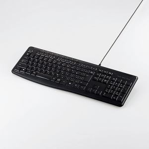 エレコム TK-FCM090SBK 有線静音フルキーボード ブラック