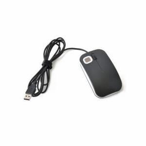 エコデバイス EMUC18-5BWB 指紋認証マウス「Beetle」 ブラック×ホワイト