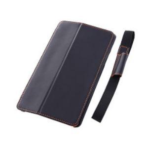 レイ・アウト Nexus7(2013)スリープモード対応フラップタイプレザー(合皮)ブラック