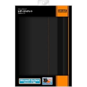 レイ・アウト Surface Proシリーズ用 フラップタイプレザー(合皮タイプ)/ブラック