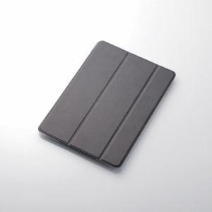 エレコム TB-A18RWVBK iPad 2018年モデル用 9.7インチ ソフトレザーフラップカバー 背面クリア 2アングル ブラック