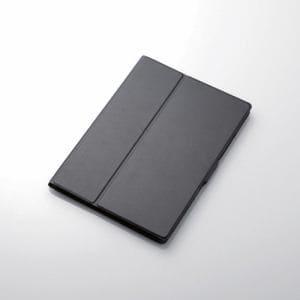 エレコム TB-A18RWVFUBK iPad 2018年モデル用 9.7インチ ソフトレザーフラップカバー ブラック