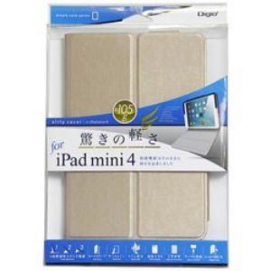 ナカバヤシ TBC-IPM1506GL iPad mini 4用 エアリーカバー ゴールド