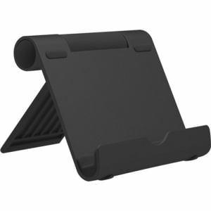 オウルテック OWL-STD02-BK スマートフォン/タブレット対応 (~10.5インチ) 折りたたみアルミスタンド ブラック