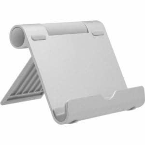 オウルテック OWL-STD02-SI スマートフォン/タブレット対応 (~10.5インチ) 折りたたみアルミスタンド シルバー