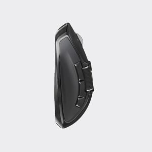 エレコム M-DWL01DBBK ハードウェアマクロ搭載マウス(サイドホイール/Lサイズ) ブラック