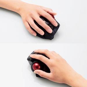 """マウス エレコム 無線 ワイヤレス M-XPT1MRBK トラックボールマウス""""EX-G PRO"""" 親指操作タイプ ブラック"""