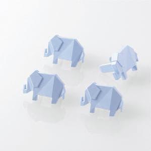 エレコム T-CAPKAKU1 コンセントキャップ(カクマル) ゾウ