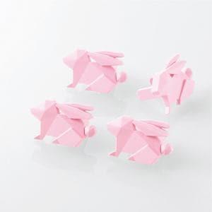 エレコム T-CAPKAKU2 コンセントキャップ(カクマル) ウサギ
