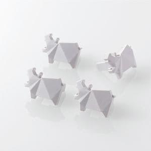 エレコム T-CAPKAKU3 コンセントキャップ(カクマル) カバ