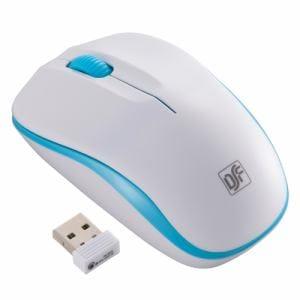 オーム電機 PC-SMWIM32-WA ワイヤレスマウス IR LED Mサイズ ホワイト/ブルー