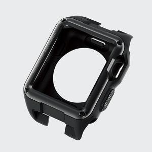 エレコム AW-42ZEROBK アップル ウォッチ42ミリ用ZEROSHOCKケース ブラック