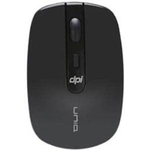 UNIQ IM314GBK ワイヤレス光学式マウス 2.4GHz USB The Silent Mouse (4ボタン・ブラック)