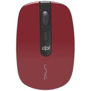 UNIQ IM314GRD ワイヤレス光学式マウス 2.4GHz USB The Silent Mouse (4ボタン・レッド)