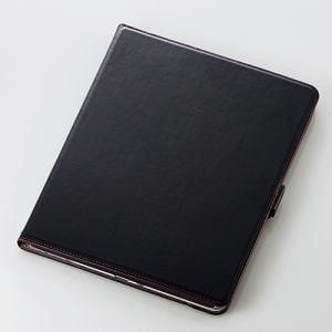 エレコム TB-A18L360BK iPad Pro 12.9インチ 2018年用ソフトレザーカバー(360度回転) ブラック