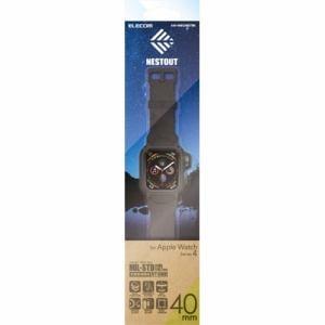 エレコム AW-40BCNESTBK Apple Watch用バンドケース(series 4/40mm)ブラック