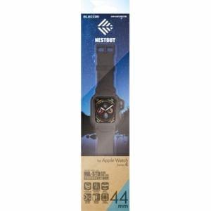 エレコム AW-44BCNESTBK Apple Watch 44mm NESTOUTバンドケース ブラック