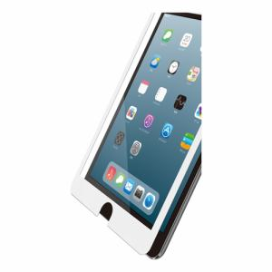 エレコム TB-A19SFLGFWH iPad mini 2019年モデル用ガラスフィルム 0.33mm フレーム付 ホワイト