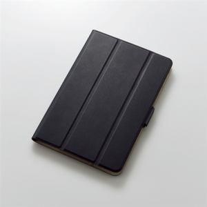 エレコム TB-A19SWVSMBK iPad mini 2019年モデル/iPad mini 4用フラップカバー ソフトレザー 360度回転 スリープ対応 ブラック