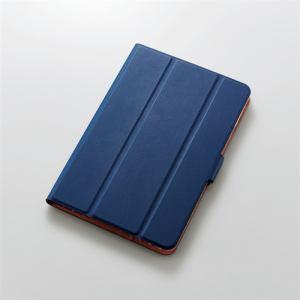 エレコム TB-A19SWVSMNV iPad mini 2019年モデル/iPad mini 4用フラップカバー ソフトレザー 360度回転 スリープ対応 ネイビー