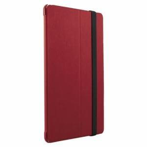 バッファロー BSIPD1907CLHRD iPad mini(2019)/iPad mini4用ヘアライン調レザーケース レッド
