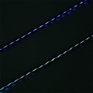 ミヨシ SLE-M10/GN LED付きUSBケーブル microUSB端子 グリーン 1m