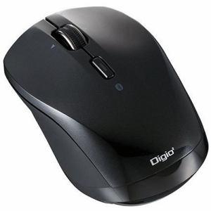 デジオ MUS-BKT163BK BLUE LED Bluetoothマウス 小型静音高速スクロール 3ボタン ブラック