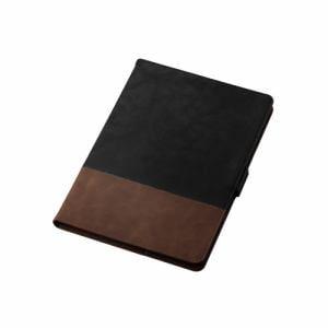 エレコム TB-A19RPLFDTBK iPad 10.2 2019年モデル/フラップケース/ソフトレザー/フリーアングル/ツートン/ブラック×ブラウン   BK