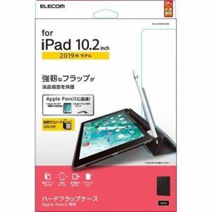エレコム TB-A19RPVFBK iPad 10.2 2019年モデル/ハードフラップケース/スリープ対応/ブラック   BK