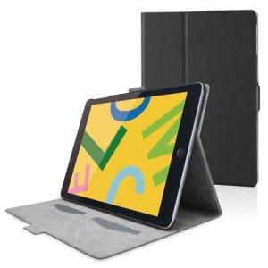 エレコム TB-A19RWVFUBK iPad 10.2 2019年モデル/フラップケース/ソフトレザー/フリーアングル/スリープ対応/ブラック   BK