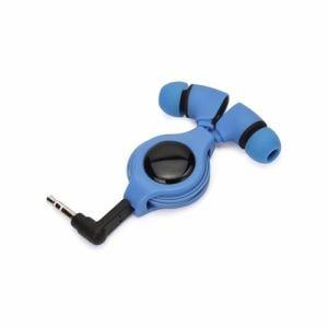 PGA PG-SIH4BL2 ステレオインナーイヤーヘッドホン リールタイプ 0.8m ブルー