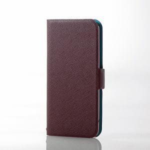 エレコム AVA-T17PLFUBR iPod touch用薄型レザー ブラウン
