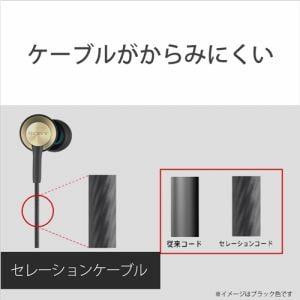 ソニー MDR-EX650AP-B スマートフォン対応 密閉型インイヤーレシーバー ブラスブラック