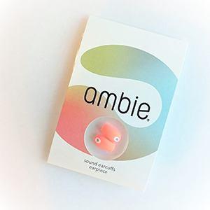 ambie(アンビー) AMEP02PQ イヤーピース   スタンプオレンジ