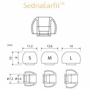 AZLA AZLA-SEDNA-EAR-FIT イヤーピース S/M/Lサイズ 各1ペア