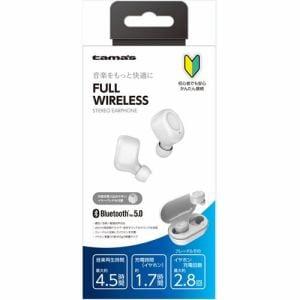 多摩電子工業 フルワイヤレスイヤホン Bluetooth Ver5.0 ホワイト TBS31AW