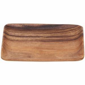 木製食器 アカシアレクタングル アカシア40461 ブラウン 1人用