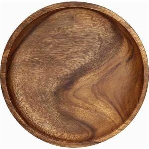 木製食器 アカシアラウンドトレー L アカシア70192 ブラウン 1人用