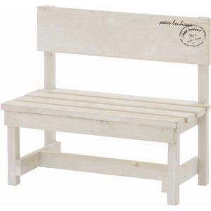 木製ミニベンチ  ホワイト