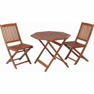 八角テーブル 90cm #GT04FB ブラウン 2人