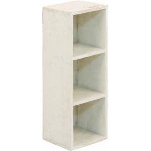 木製3段ボックス moku ホワイト