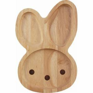 キッズプレート ウサギ ツール23915 ナチュラル 1人用