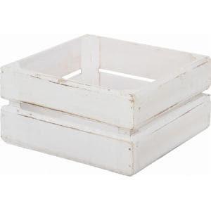 木製ボックス スクエア ホワイト