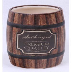 陶器プランター 樽型(ウイスキー)