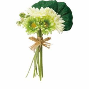 ポピー ガーベラブーケM FBC-8025 G/W グリーン 全長26cm・花径5~9cm・幅15cm